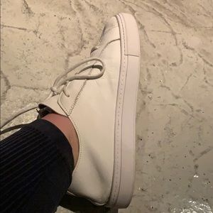 ZARA like new white leather sneakers shoes 10